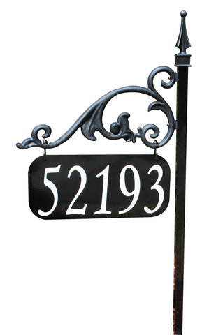 Annandale Reflective Ornamental Address Sign