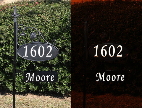 Our Address Signs are Beautiful by Day and Super Reflective at Night!