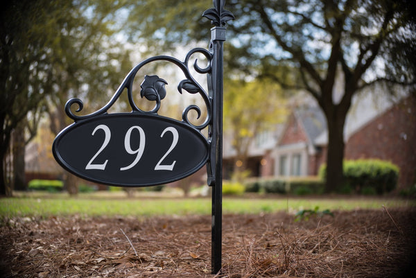 Park Place Oval Reflective Yard Address Sign