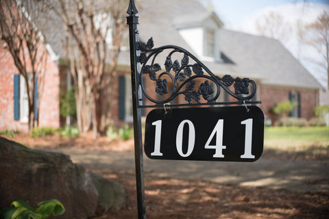 Rose Reflective Address Sign