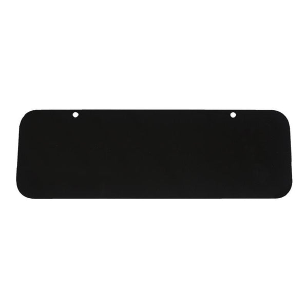 "12"" x 4"" Powder-Coated Black Aluminum Blank"