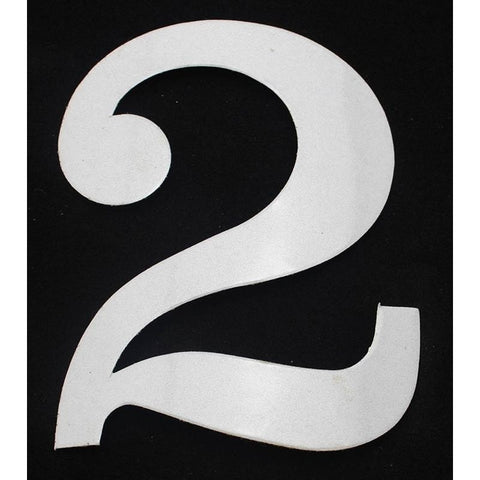 "Deco Style 4"" Reflective Number - 2 - Address America"