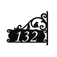 Boardwalk Lamppost Sign Wrought Iron Look - Address America