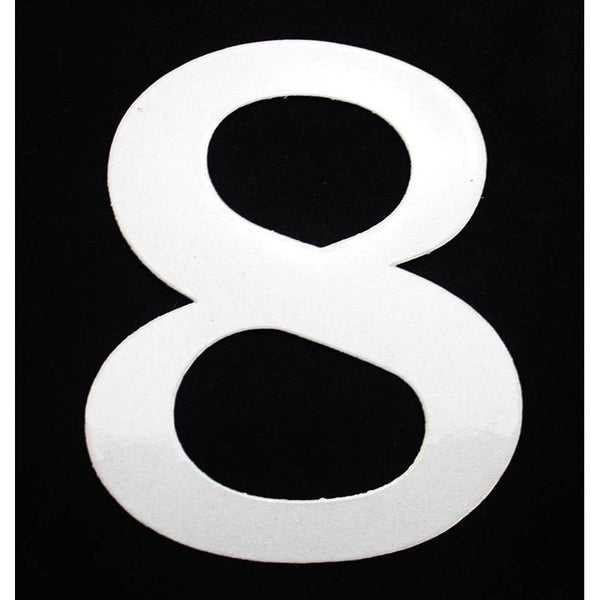 "Deco Style 4"" Reflective Number – 8 - Address America"