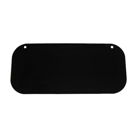 "11"" x 5"" Powder-Coated Black Aluminum Blank - Address America"
