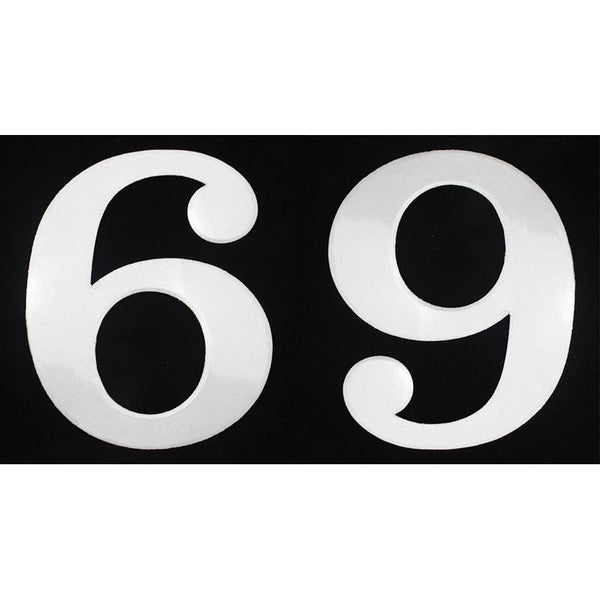 "Deco Style 4"" Reflective Number – 6/9 - Address America"