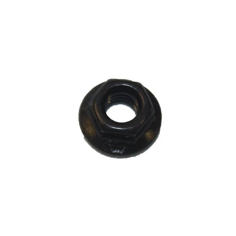 Black Stainless Steel 10-32 Serrated Flange Hex Nut - Address America