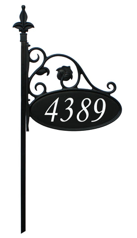 Park Place Oval Reflective 911 Home Address Sign for Yard - Custom Made Address Plaque - Address America