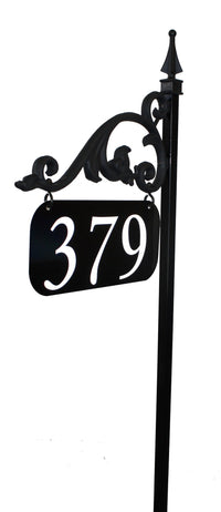 Annandale Super Reflective Address Sign With Numbers Applied To Both Sides