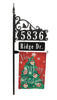 "Boardwalk 58"" Post, Name Rider, Christmas Tree Flag"