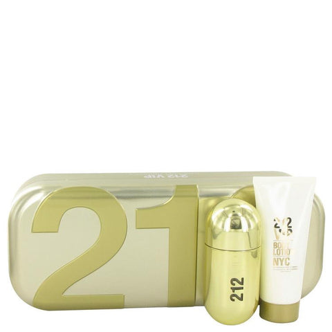 212 Vip by Carolina Herrera Gift Set -- 1.7 oz Eau De Parfum Spray + 3.4 oz Body Lotion - Fragrances for Women - 123fragrance.net