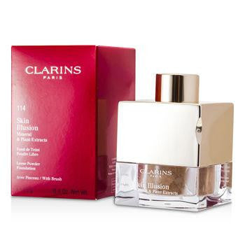 Clarins Skin Illusion Mineral & Plant Extracts Loose Powder Foundation (With Brush) - # 114 Cappuccino - Miaimi perfume and cologne @ 123fragrance.net-Brand name fragrances, colognes, perfumes, shopping made easy - 2
