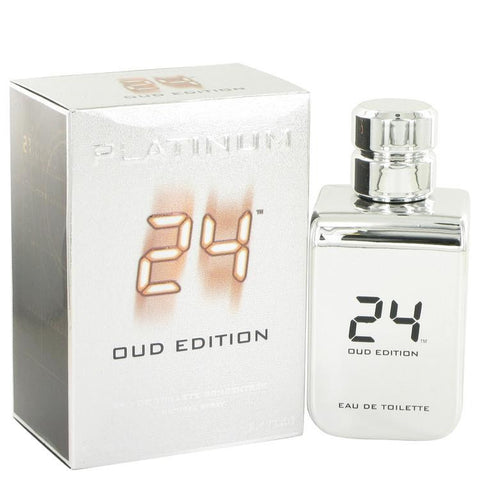 24 Platinum Oud Edition by ScentStory Eau De Toilette Concentree Spray (Unisex) 3.4 oz - Fragrances for Men - 123fragrance.net