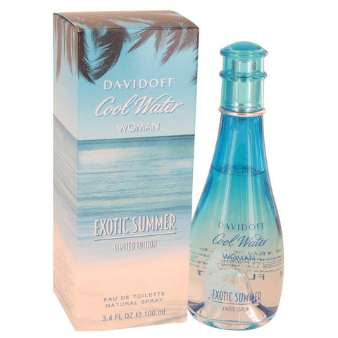Cool Water Exotic Summer by Davidoff Eau De Toilette Spray (limited edition) 3.4 oz - Miaimi perfume and cologne @ 123fragrance.net-Brand name fragrances, colognes, perfumes, shopping made easy - 2