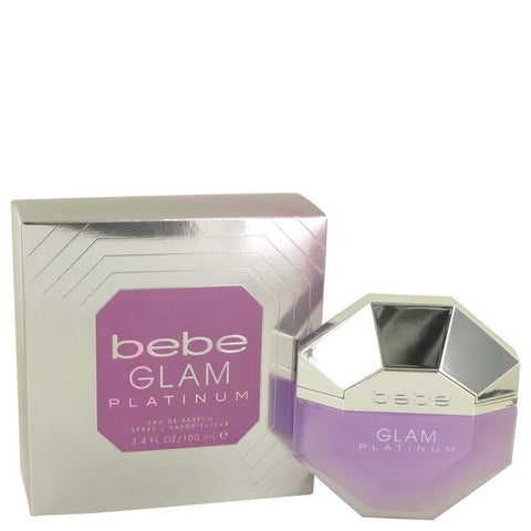 Bebe Glam Platinum by Bebe Eau De Parfum Spray 3.4 oz - Miaimi perfume and cologne @ 123fragrance.net-Brand name fragrances, colognes, perfumes, shopping made easy - 2