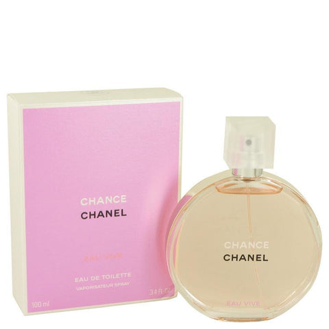 Chance Eau Vive by Chanel Eau De Toilette Spray 3.4 oz - Miaimi perfume and cologne @ 123fragrance.net-Brand name fragrances, colognes, perfumes, shopping made easy