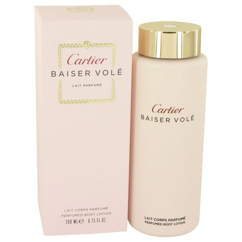 Baiser Vole by Cartier Body Lotion 6.7 oz - Miaimi perfume and cologne @ 123fragrance.net-Brand name fragrances, colognes, perfumes, shopping made easy