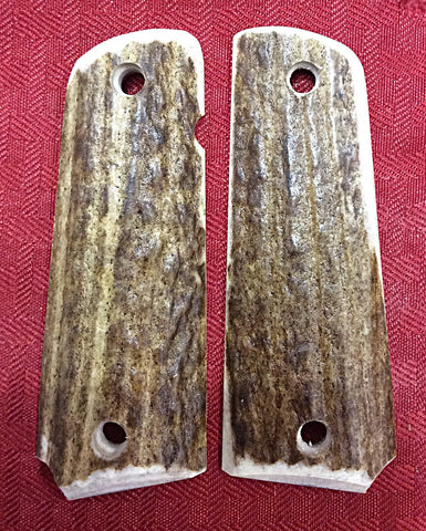 Rocky Mountain Elk Full Bark Grips - Lone Star 1911 & Cowboy Grips