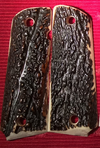 Red Stag Full Bark Grips - Lone Star 1911 & Cowboy Grips