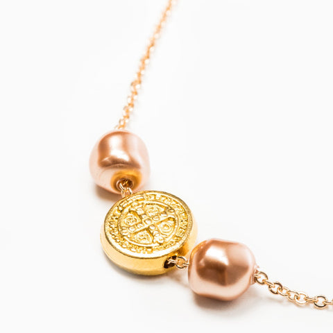 Blessings and Joy Necklace ROSE GOLD