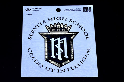 Decal: Servite High School Credo UT Intelligam