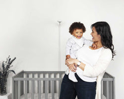 lifestyle image with nanit, baby monitor