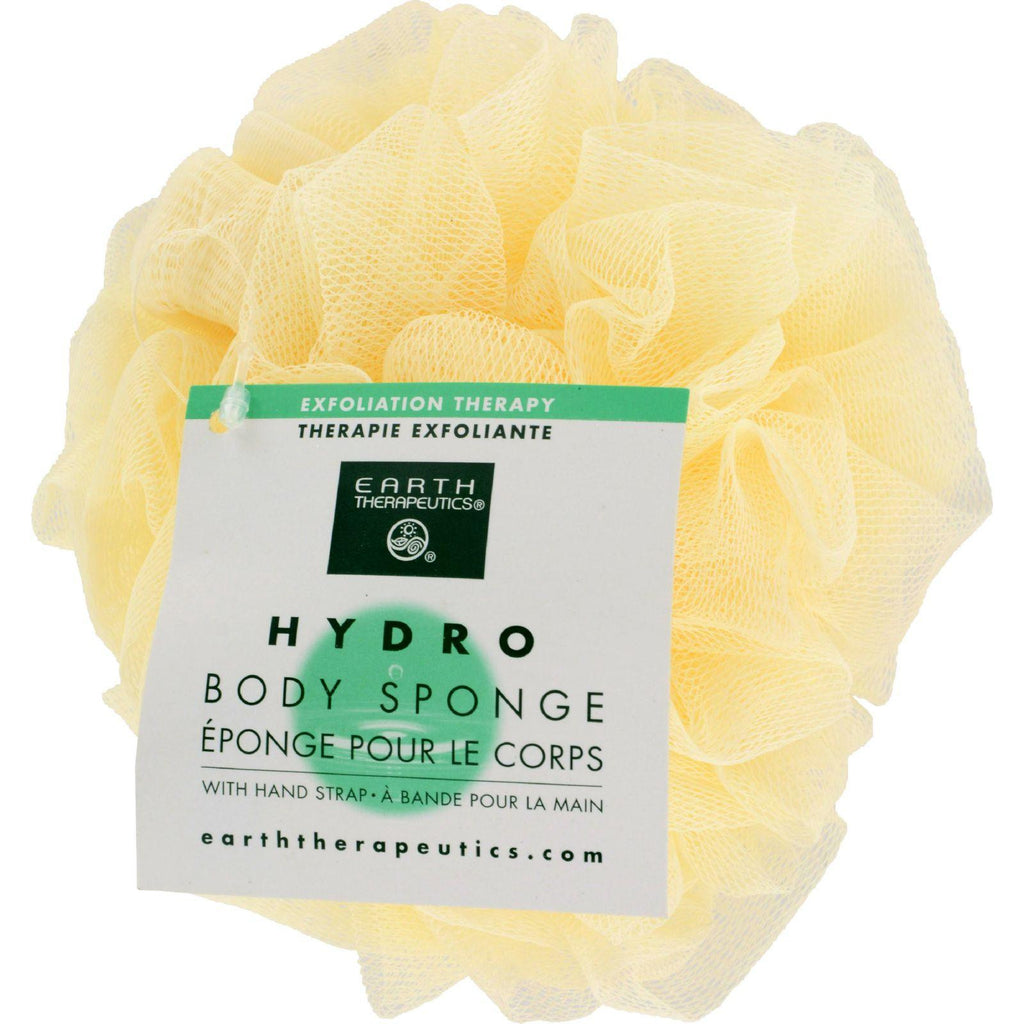 Earth Therapeutics Hydro Body Sponge With Hand Strap Natural - 1 Sponge