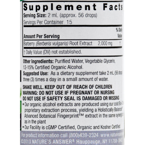 Nature's Answer Barberry Root - 1 Fl Oz