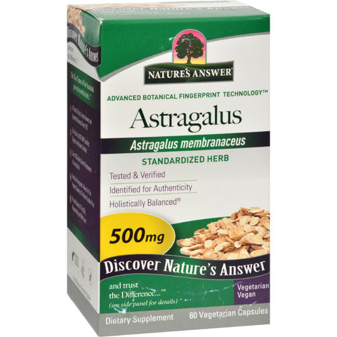 Nature's Answer Astragalus Root Extract - 60 Vegetarian Capsules