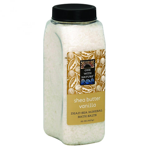 One With Nature Bath Salts - Dead Sea Mineral - Shea Butter Vanilla - 32 Oz
