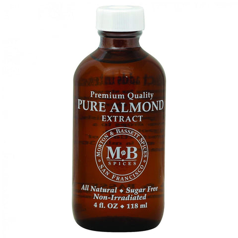 Morton And Bassett Seasoning - Almond Extract - Pure - 4 Oz - Case Of 3