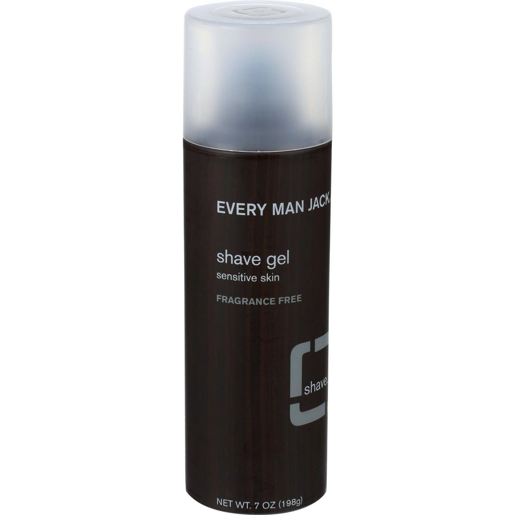 Every Man Jack Shave Gel - Sensitive Skin - Fragrance Free - 7 Oz