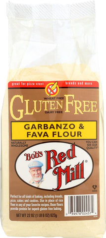 Bob's Red Mill Gluten Free Garbanzo And Fava Bean Flour - 22 Oz - Case Of 4