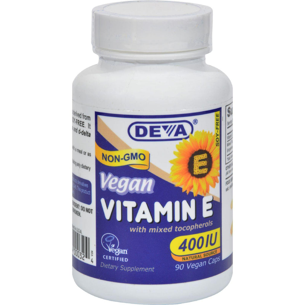 Deva Vegan Vitamin E With Mixed Tocopherols - 400 Iu - 90 Vegan Capsules