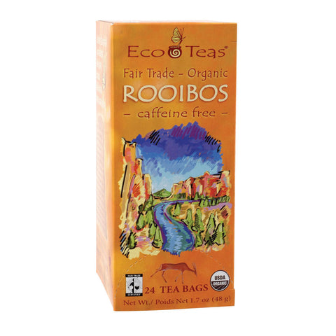 Ecoteas Organic Rooibos Sustainably Harvested Warm Balance Tea Bags - Case Of 6 - 24 Bags