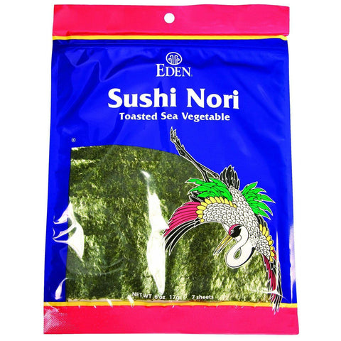 Eden Foods Sushi Nori - Cultivated - Toasted - 50 Sheets - 4.4 Oz