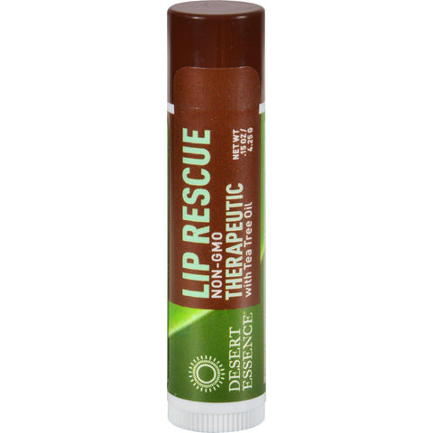 Desert Essence Lip Rescue Therapeutic With Tea Tree Oil - 0.15 Oz - Case Of 24