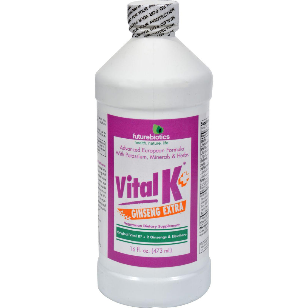 Futurebiotics Vital K Plus Ginseng Extra - 16 Fl Oz