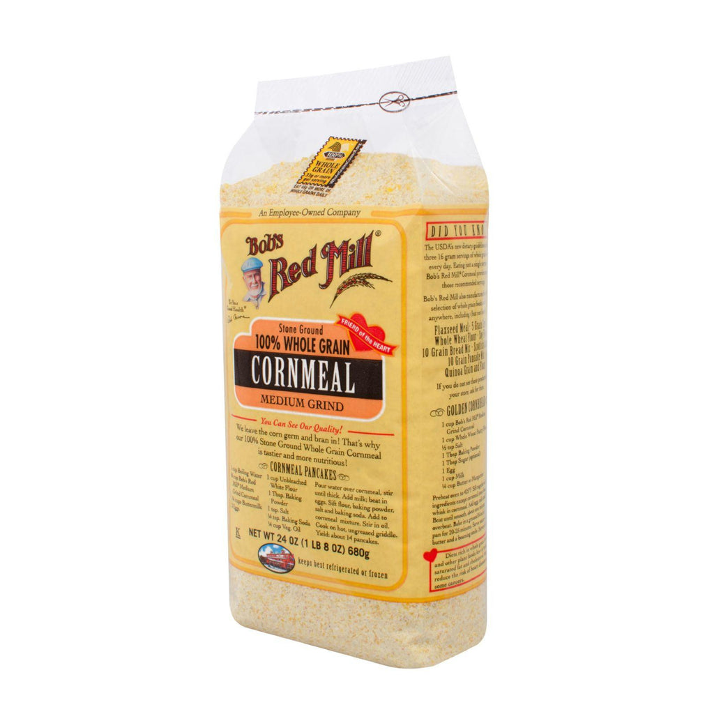 Bob's Red Mill Medium Grind Cornmeal - 24 Oz - Case Of 4
