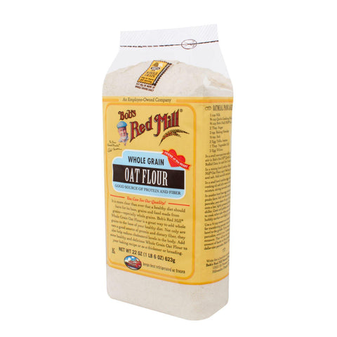 Bob's Red Mill Whole Grain Oat Flour - 22 Oz - Case Of 4