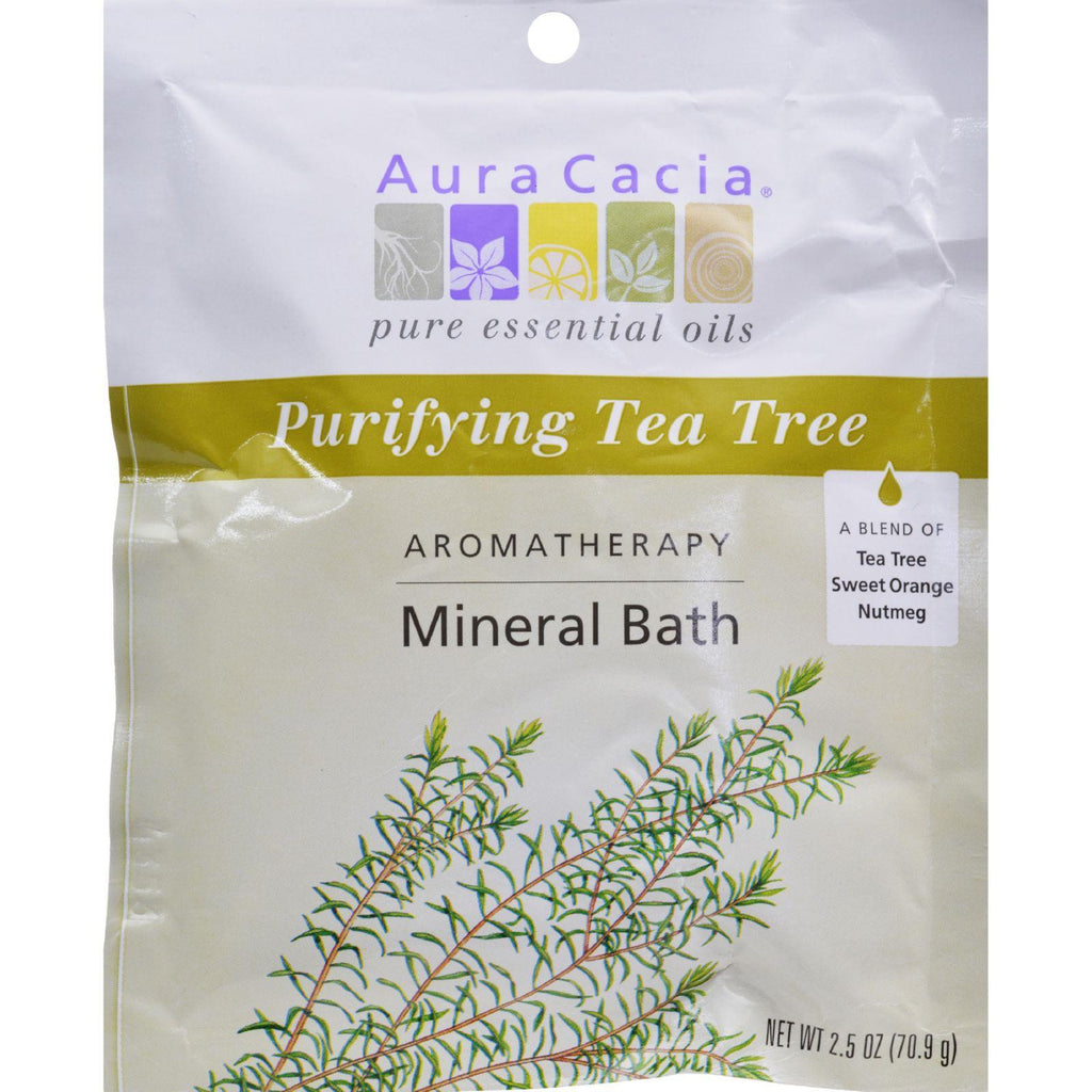 Aura Cacia Aromatherapy Mineral Bath Tea Tree Harvest - 2.5 Oz - Case Of 6