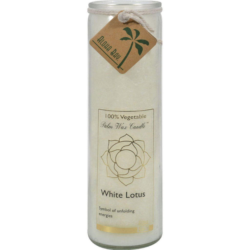 Aloha Bay Chakra Candle Jar White Lotus - 11 Oz