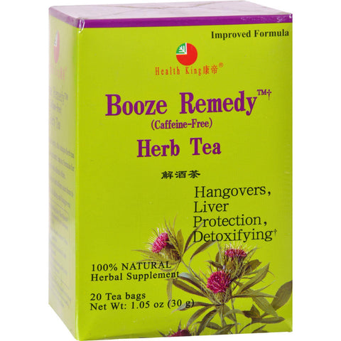 Health King Booze Remedy Herb Tea - 20 Tea Bags