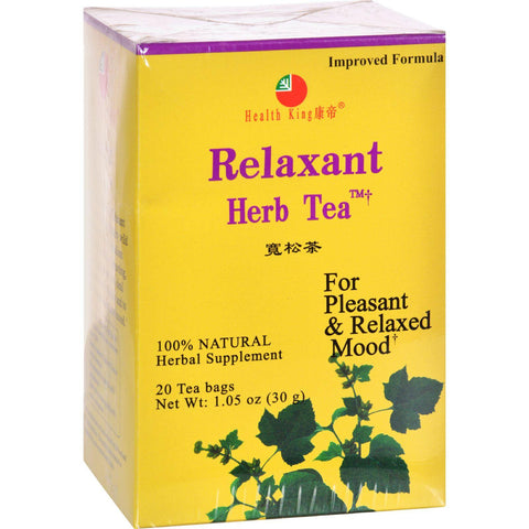 Health King Medicinal Teas Tea - Relaxant - 20 Bag