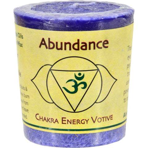 Aloha Bay Chakra Votive Candle - Abundance - Case Of 12 - 2 Oz