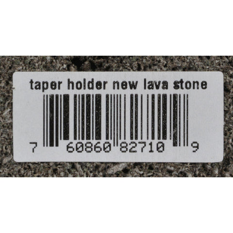 Aloha Bay Taper Candle Holder Lava Stone - 1 Candle Holder