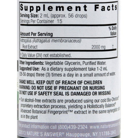 Nature's Answer Astragalus Root Alcohol Free - 1 Fl Oz