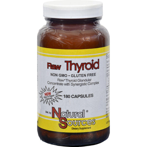 Natural Sources Raw Thyroid - 180 Caps