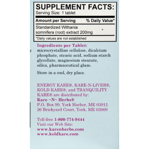 Kare-n-herbs Tranquility Kare - 40 Tablets