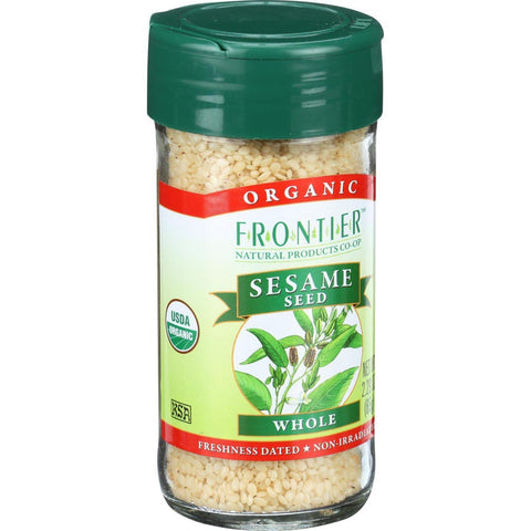 Frontier Herb Sesame Seeds - Organic - Whole - Hulled - 2.32 Oz